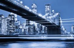 Manhattan and Brooklyn Bridge Stock Image
