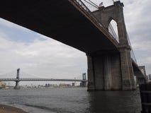 Manhattan and Brooklyn bridges Royalty Free Stock Photo