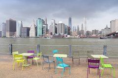 Manhattan from Brooklyn Stock Photos