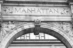 Manhattan Building Exterior Royalty Free Stock Images