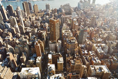Manhattan buildings aerial Stock Image