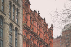 Manhattan Buildings of Beautiful Architechture Stock Photos