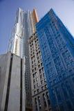 Manhattan buildings closeup Royalty Free Stock Image