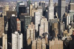 Manhattan buildings, New York. Royalty Free Stock Image