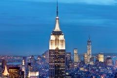 Manhattan byggnader, New York City, USA arkivbilder
