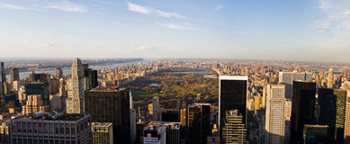 Manhattan and Central Park Panorama Stock Image