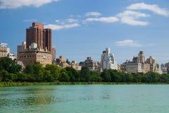 Manhattan Central Park skyline Stock Images