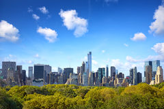 Manhattan with Central Park Stock Image