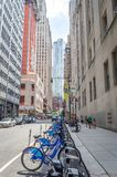 Manhattan citi bike station Royalty Free Stock Images