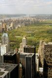 Manhattan - City Scape. Northern Manhattan View from Rockefeller Center - visible are Midtown, Central Park, Hudson River, George Washington Bridge, Northern Stock Image
