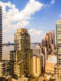 Manhattan city view overlooking the Hudson Royalty Free Stock Photos