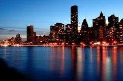 Manhattan cityscape royalty free stock images