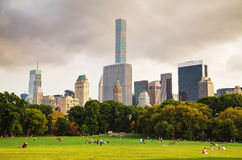 Manhattan cityscape as seen from the Central park Stock Images