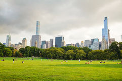 Manhattan cityscape as seen from the Central park Stock Photography