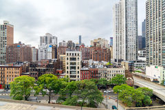 Manhattan cityscape from  Roosevelt Island Tramway Stock Photos