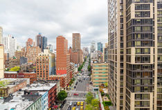 Manhattan cityscape from  Roosevelt Island Tramway Stock Photography