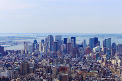 Manhattan Cityscape. The wonderful skyline of Lower Manhattan, from the Empire State Building Stock Images