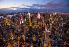 Manhattan - ciudad de la nueva obra - los E.E.U.U. Imagen de archivo libre de regalías