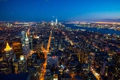 Manhattan - ciudad de la nueva obra - los E.E.U.U. Foto de archivo