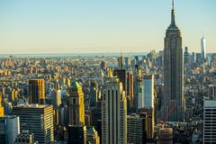 Manhattan - ciudad de la nueva obra - los E.E.U.U. Fotografía de archivo