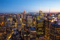 Manhattan - ciudad de la nueva obra - los E.E.U.U. Fotos de archivo libres de regalías