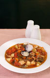 Manhattan clam chowder Stock Photography