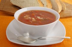 Manhattan clam chowder Royalty Free Stock Photo