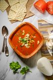 Manhattan Clam Chowder Soup royalty-vrije stock afbeelding