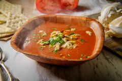Manhattan Clam Chowder Soup royalty-vrije stock fotografie