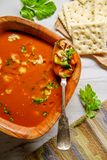 Manhattan Clam Chowder Soup stock foto's