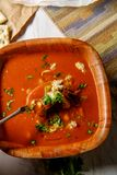 Manhattan Clam Chowder Soup royalty-vrije stock afbeeldingen