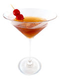 Manhattan cocktail. In white background stock image