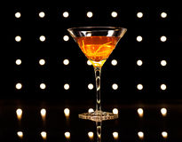 Manhattan cocktail Stock Images