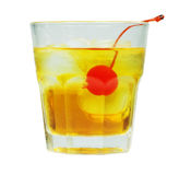 Manhattan Cocktail in old fashioned glass Royalty Free Stock Photography