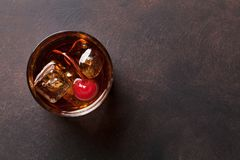 Manhattan cocktail stock images