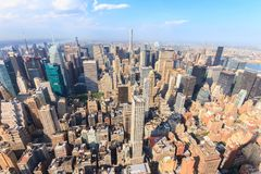 Manhattan como visto do Empire State Building Foto de Stock Royalty Free