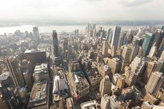 Manhattan como visto do Empire State Building Imagens de Stock Royalty Free