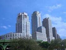 Manhattan, costruzioni di appartamento moderne fotografia stock