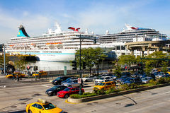 Manhattan Cruise Terminal on the Hudson River, NYC. Stock Photos
