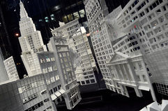 Manhattan cut from paper. Stock Photo