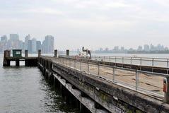 Manhattan d'île de liberté Photos libres de droits