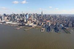 Manhattan d'en haut, les Etats-Unis Photos libres de droits