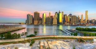 Manhattan da baixa Fotografia de Stock