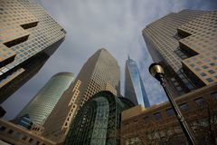 Manhattan da baixa imagem de stock