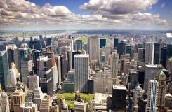 Manhattan da parte alta da cidade Fotografia de Stock Royalty Free