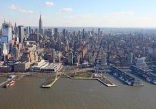 Manhattan da sopra, U.S.A. Immagini Stock