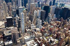 Manhattan-Dachspitzen Lizenzfreies Stockfoto