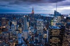 Manhattan dal centro del Rockefeller, New York, S.U.A. Fotografie Stock Libere da Diritti