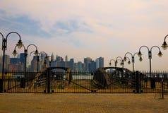 Manhattan dal lato della Jersey fotografie stock