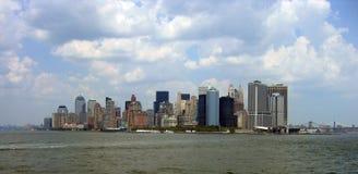 Manhattan dall'isola di Staten Immagini Stock Libere da Diritti
